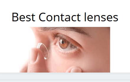 contact lenses: The cool contact lenses in the World