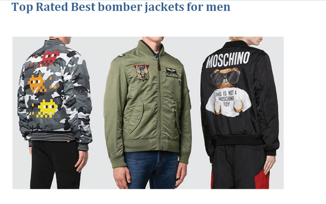 The Best bomber jacket for men